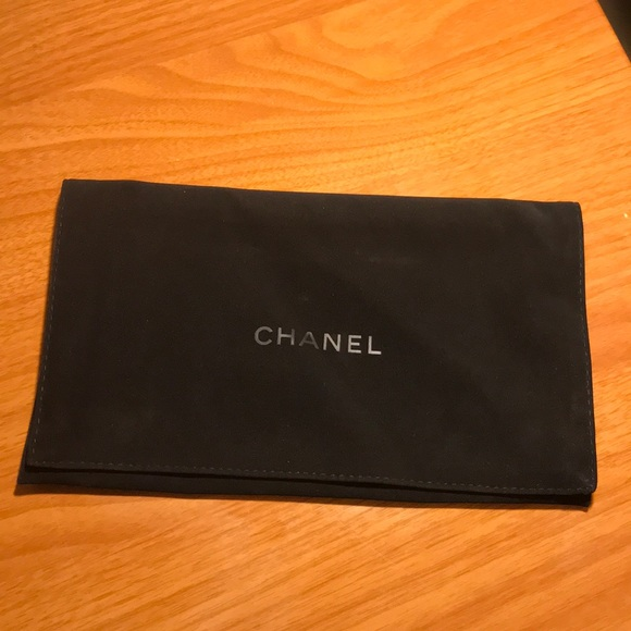 ac0a22c00e52 CHANEL Handbags - Black CHANEL Velvet Wallet Dust Cover